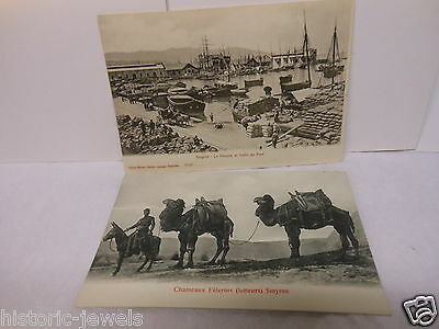 Smyrne Izmir Turkey Greece  Middle East  2 postcards