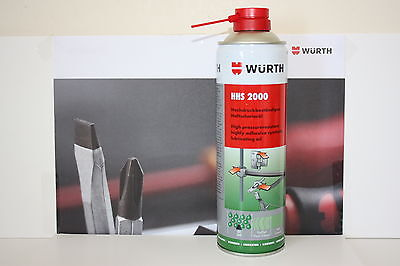 Wurth HHS 2000 Spray 500ml Synthetic Lubricating Oil. New