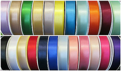 25mm BERISFORDS DOUBLE SIDED SATIN RIBBON 1,3 or 5 metres 30 COLOURS