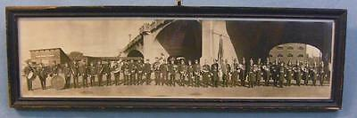Antique Panoramic Photo of Neversink FD & Peerless Band of Reading, Pa.