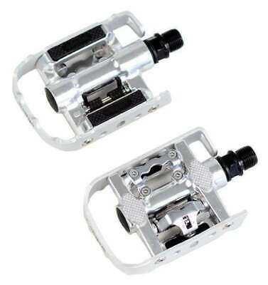 Wellgo Multi-Function Mountain Bike Pedals Shimano SPD Compatible Silver