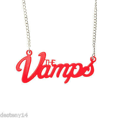 The Vamps Red Logo Necklace NWT