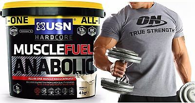 USN Muscle Fuel Anabolic All in One 4kg + ON T-shirt Optimum Nutrition