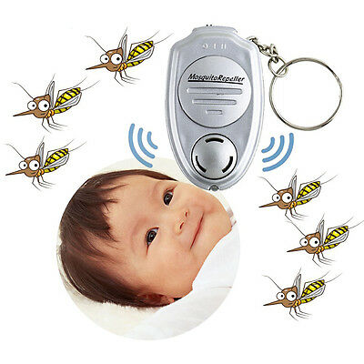 New Ultrasonic Mosquito Repeller Pest Bug Repellent Insect Keychain Control Anti