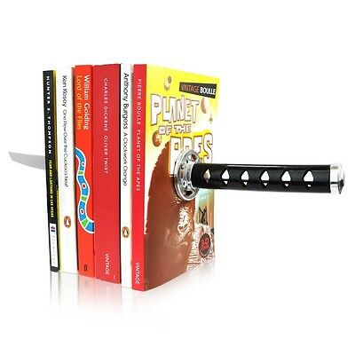 Magnetic Katana Bookends With Hidden Brackets Ninja Optical Illusion Dvds Movies