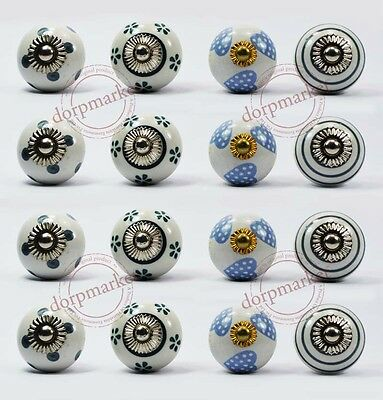 16 Pcs White & Mix Color Kitchen / dress Ceramic Knobs Cupboard drawer Pull