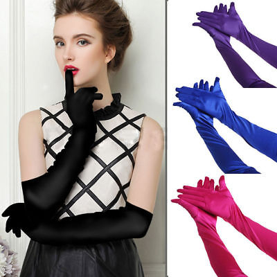 Bride Wedding Party Evening Dress Fingerless Costume Lace/Satin Bridal Gloves