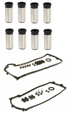 BMW 745 750 Complete Valve Cover Set Right And Left with Spark Plug Tube Seals