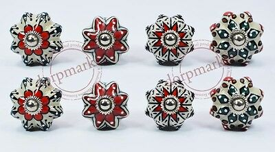 16 Pcs White,Red Multi Color Kitchen/ dress Ceramic Knobs Cupboard drawer Pull