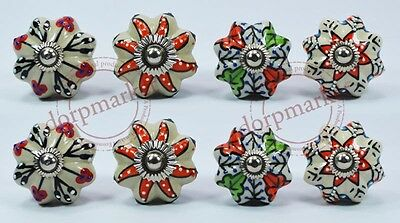 16Pcs Red, White & Mix  Color Kitchen / dress Ceramic Knobs Cupboard drawer Pull