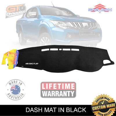 DASH MAT Mitsubishi Triton MQ 01/2015-ON in Black GLX GLS GLR EXCEED DM1393