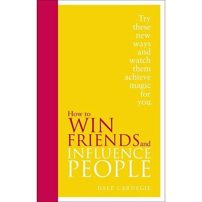 How to Win Friends and Influence People Carnegie Vermilion HB 9780091947460