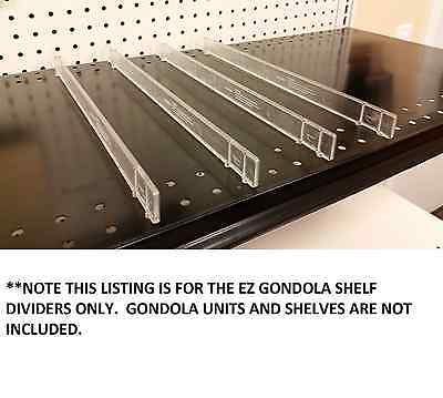 "Gondola EZ Shelf Divider System Fits Any Gondola Shelf Up to 16"" D - 100 PCS"