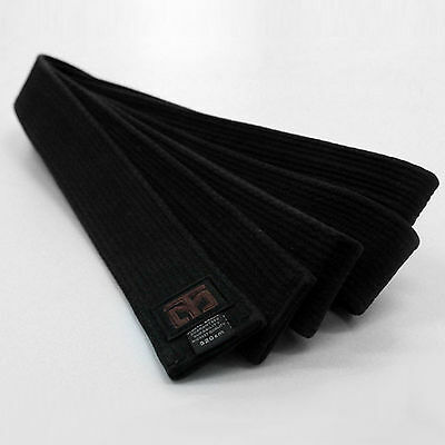 Mooto Premium Black Belt 5cm Wide Double Wraps MMA TKD Taekwondo Hapkido Karate