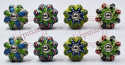 16Pcs Green & Different Color Kitchen / dress Ceramic Knobs Cupboard drawer Pull