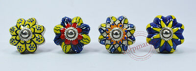 16Pcs Yellow,Blue&Multi Color Kitchen / dress Ceramic Knobs Cupboard drawer Pull