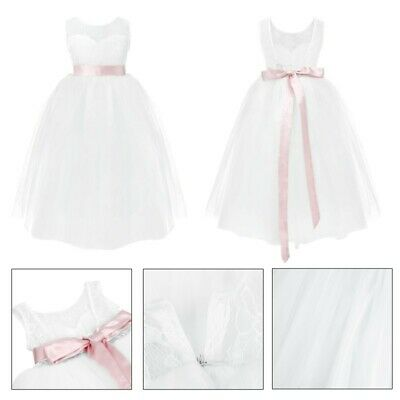 Girl Communion Party Prom Princess Pageant Bridesmaid Wedding Flower Gown Dress