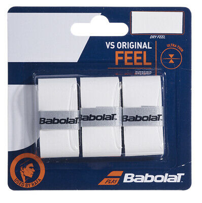 Babolat VS Grip Original White Overgrip Tennis grips - Pack of 3 - Free UK P&P