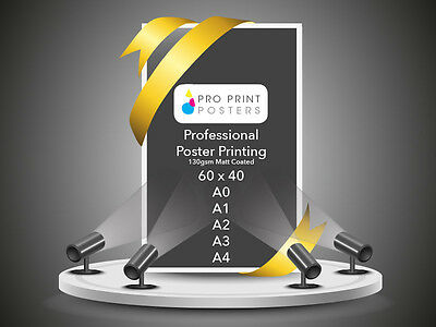 Full colour MATT Poster Printing 5 x A1 Poster Printing FREE DELIVERY!