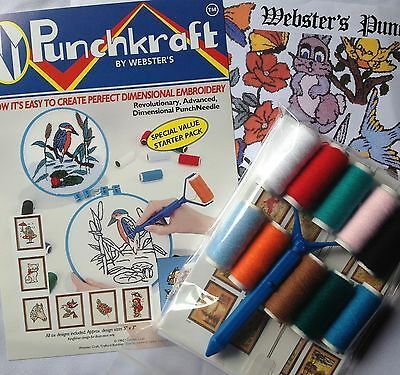 Webster Craft Punch Needle Embroidery Starter Kit British Made
