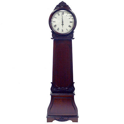 REGAL - Grandfather Clock with Chimes and Storage Shelves - Mahogany GFW2010