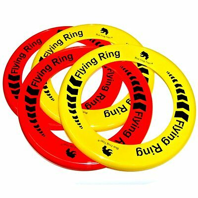 Pack of 4 Flying Rings - Fun Outdoor Summer Toys - Frisbee Type Toys