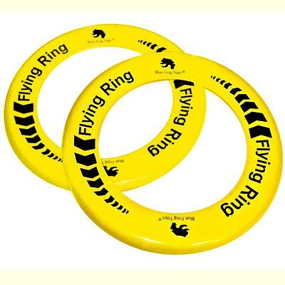 2 Yellow Flying Rings - Fun Outdoor Summer Toys - Frisbee Type Toys