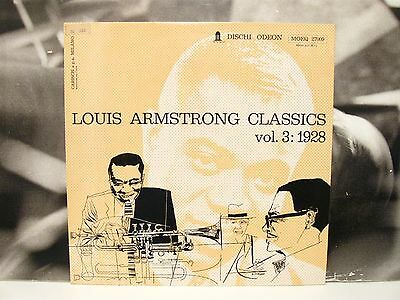 Louis Armstrong Classics Vol. 3 1928 Lp Unplayed Odeon - Cover By Crepax