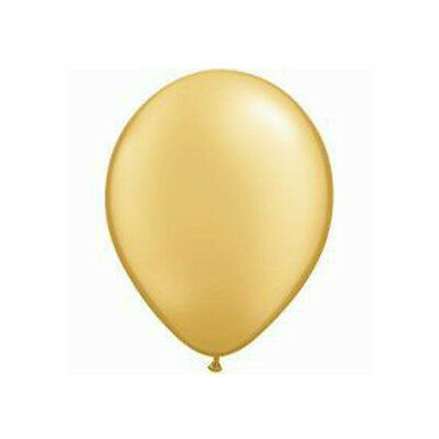Party Supplies Decorations Wedding  Birthday 12cm Metallic Gold Balloons Pk10