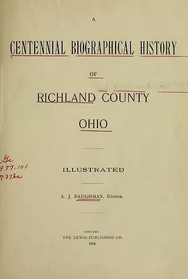 1901 RICHLAND County Ohio OH, History and Genealogy Ancestry Family Tree DVD B14