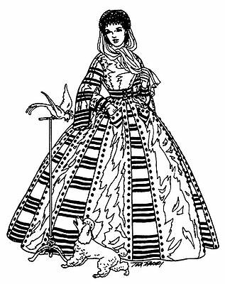 """Little Lady Stitch Sewing FLONZ unmounted acrylic cling Clear stamp 2.5/""""x3.5/"""""""