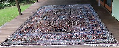 GENUINE ANTIQUE EXTRA LARGE ROOM SIZE KER MAN PILE RUG Circa 1910