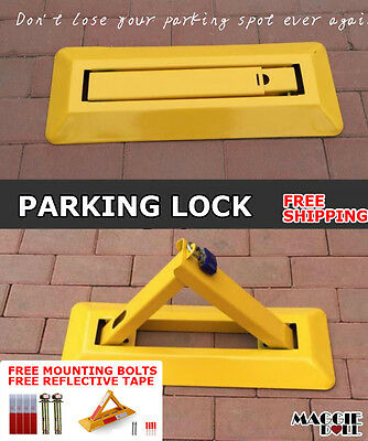 Fold Down Vehicle Security Car Parking Spot Lock Safety Bollard Barrier