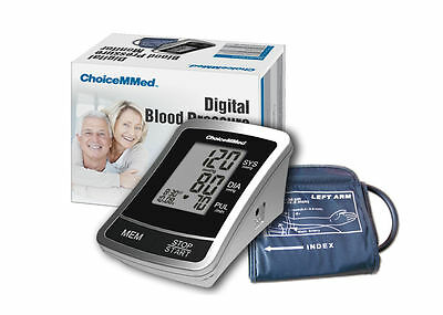New Choicemmed Lcd Upper Arm Blood Pressure Monitor Heart Pulse Memories Bp10