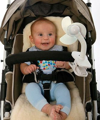 New Dreambaby Baby Clip On Stroller Fan For Cribs Playpens & Prams Baby Safety