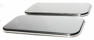 sleeper vent door covers(2) plain stainless for Freightliner Century Classic