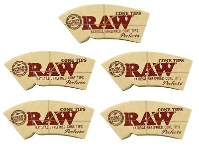 Raw Cone Tips Paper Roach Filter Tips Chlorine free Filter Roach (5 pack)
