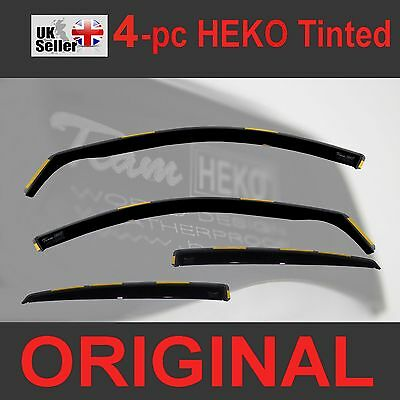 SKODA FABIA MK2 5-doors 2007-2014 Hatchback 4-pc Wind Deflectors HEKO Tinted