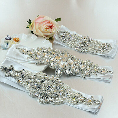 Bridal Sash Wedding Belt Vintage Crystal Luxury Dress Rhinestone Bead Waistband