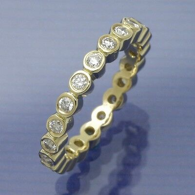 Memory Ring vom Goldschmied 750/°°° Gelbgold 0,52 ct