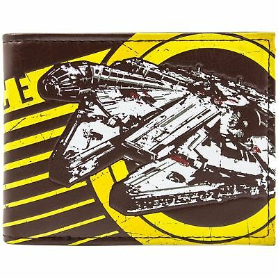 New Official Awesome Star Wars Rebel Alliance Falcon Bi-Fold Wallet