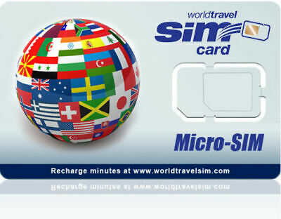 Global Micro SIM card - Works in 220 Countries