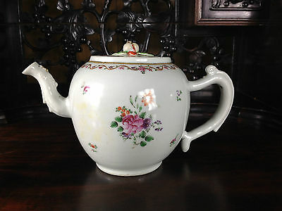 Antique Chinese Famille  Rose Teapot 18Th Century