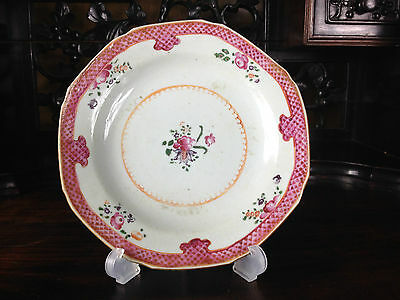 Antique Chinese Famille  Rose Small Plate 19Th Century
