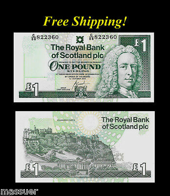 One Pound - Royal Bank of Scotland - Foreign Currency - Lot of 1 Note - Unc.