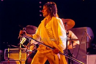 Rod Stewart The Faces Photo 8x12 or 8x10 inch 3/5/1975 LA Forum Live Concert 2