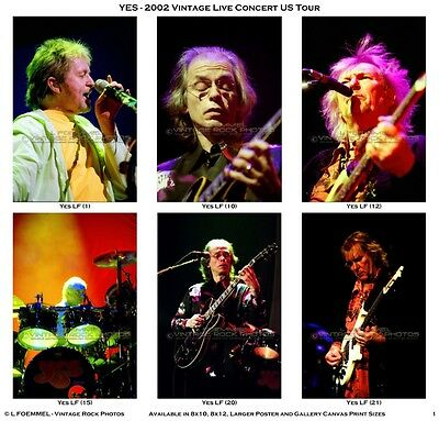 Yes Photos 4x6 in Set of 36 Pro Lab Prints 2002 Full Circle Tour Columbus, OH LF