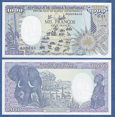 Equatorial Guinea 1000 Francos P 21 1985 UNC Low Shipping! Combine FREE!
