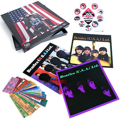 The Beatles US 1964 Replica Memorabilia Box Set:Concert Programs Tickets Buttons