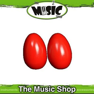 New Pair Mano Percussion Large Wooden Egg Maracas - Red Finish - UE780R